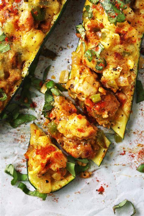 Stuffed Zucchini Boats Recipe by Sausage Stuffed Zucchini Boats Recipe Dishmaps