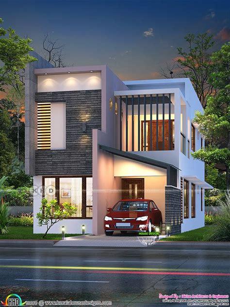 sq ft feet small ultra modern double storied house kerala home design  floor plans