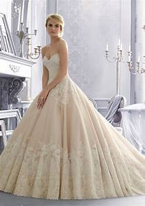 lace on organza wedding dress with wide hemline style With organza wedding dress