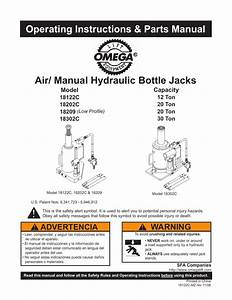 Air   Manual Hydraulic Bottle Jacks Operating Instructions