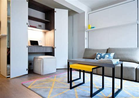 bureau pc intégré arbeitsplatz und drucker im wohnzimmer verstecken ideen
