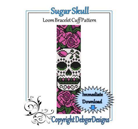 bead pattern loombracelet cuffsugar skull