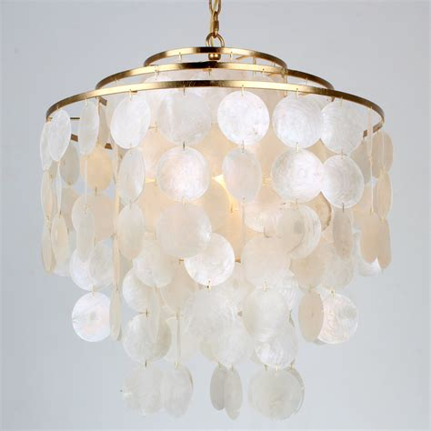 shades of light chandeliers young house love cascade capiz four light chandelier