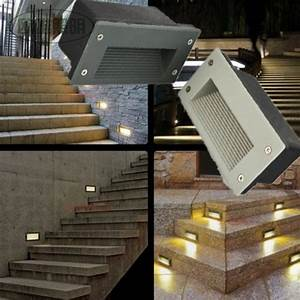 Led recessed stair light indoor