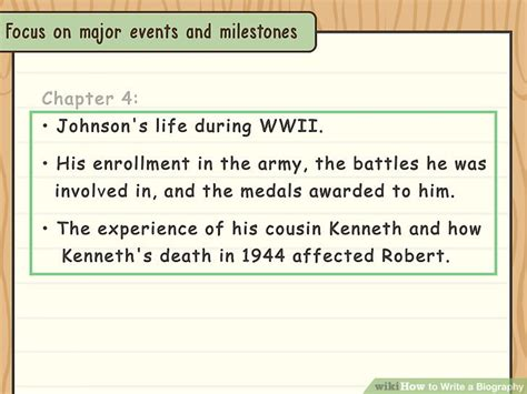 how to write a biography with exles wikihow