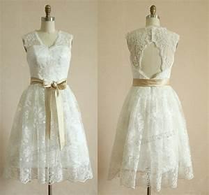 Short Wedding Dresses Vintage Lace