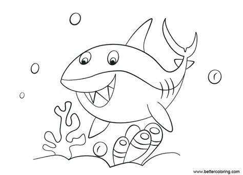 shark week coloring pages shark   sea