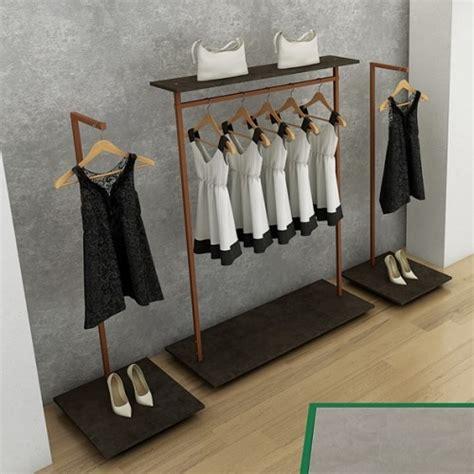 portant vetement metal portant professionnel en bois personnalisable design