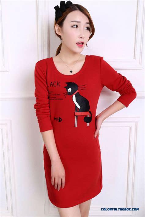cheap  medium long women long sleeved  shirt dress blouses slim sale