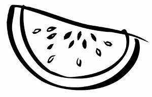watermelon black and white clipart - Clipground