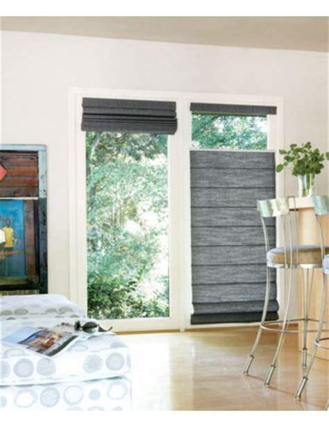 patio door wall window covering roman shade bottom