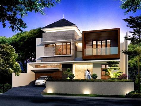 contoh gambar desain rumah minimalis modern    lantai