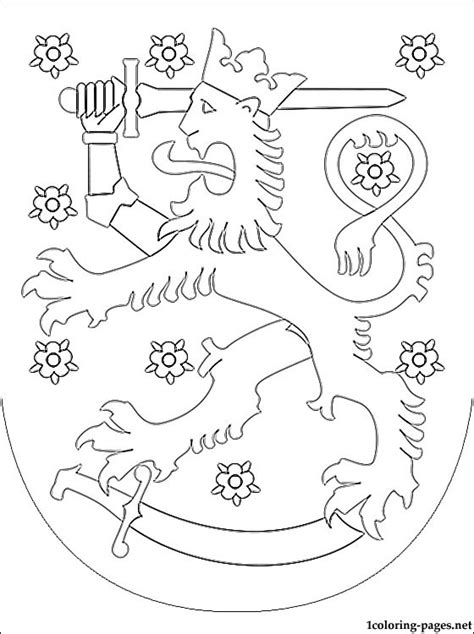 finland coat  arms coloring page coloring pages