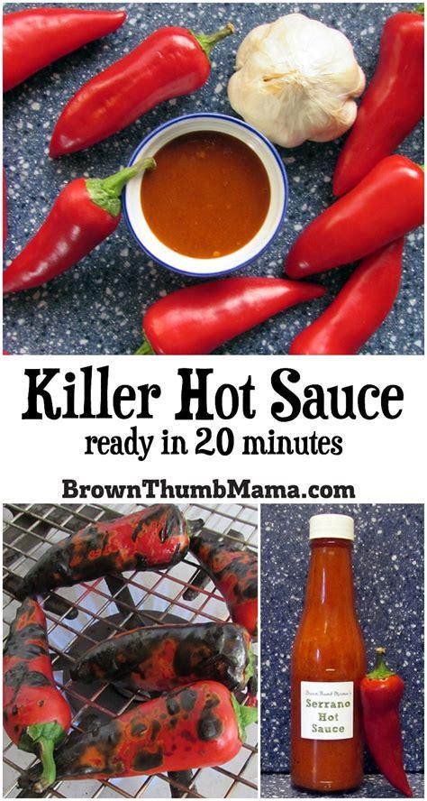 killer hot sauce   minutes brown thumb mama