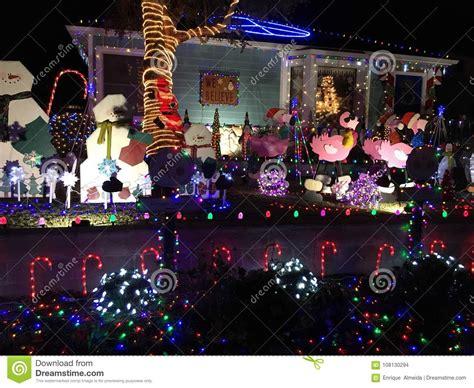 christmas decorations los angeles stock photo image