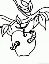Worm Coloring Pages Popular sketch template