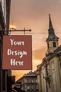 Restaurant, Signage, Mockup, U2013, Free, Mockup, Download