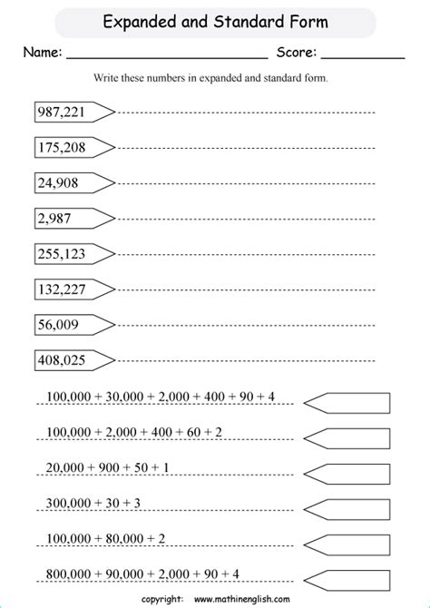 write  expanded form    digit numbers