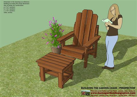 home garden plans gc garden chair plans  door