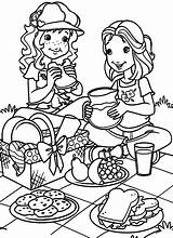 Picnic Coloring Piquenique Holly Hobbie Colouring Colorir Moranguinho Desenho Printable Amiga Kleurplaat Books Disney Having Boy Preschool March Camping Warnio05 sketch template