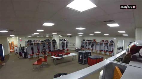 bearcats football locker room set  time lapse youtube