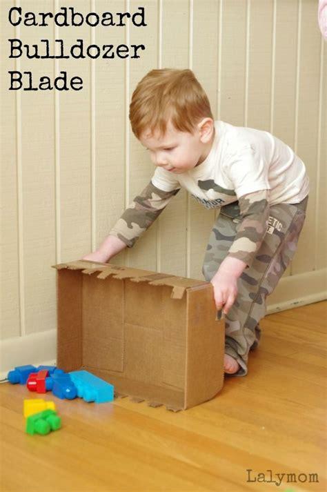 cardboard crafts diy bulldozer blade toy cardboard