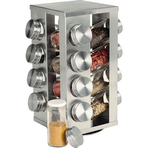 Spinning Spice Rack With 48 Jars by Spice Racks Stainless Steel Rotating Spice Display Rack