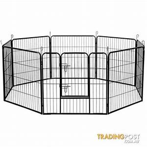 8 panel pet playpen dog cage puppy exercise crate for Dog fence cage for sale