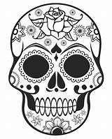 Coloring Sugar Skull Skulls Skullcandy Pages sketch template