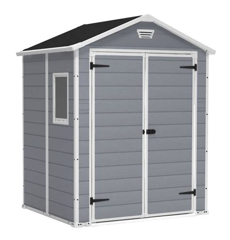 keter manor 6x5 dd grey outdoor storage shed 6 1ft x 5ft x