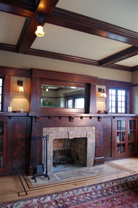 craftsman fireplace craftsman living room portland