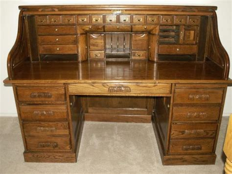 wooden roll top desk solid wood roll top desk sold in 2010 antique appraisal