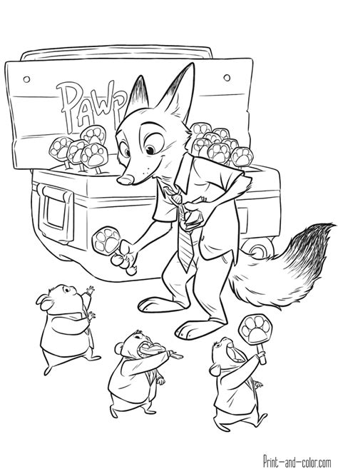 zootopia coloring pages getcoloringpagescom