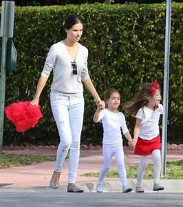 Adriana Lima Attends Sienna & Valentina's School Christmas ...
