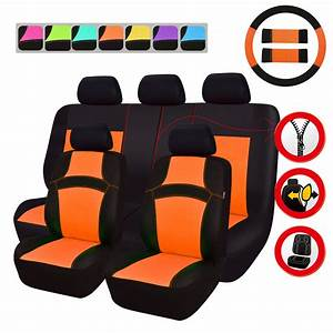 Siege Auto Airbag : car pass housse de siege auto universelle orange conception de maille 14 pi ces compatible ~ Maxctalentgroup.com Avis de Voitures