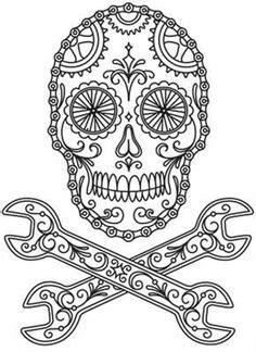 Sugar Skull Version 6 Wall Vinyl Decal Sticker Art Graphic