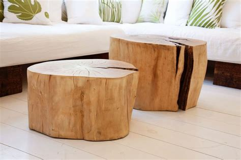 Tree Stump Tables From The Selby Blog #wood #diy #table