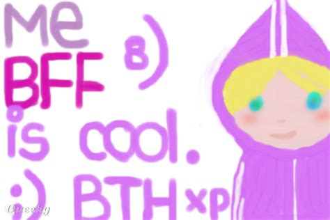 me bff is cool btw xp 8 a speedpaint drawing by rainshadow11 queeky draw paint