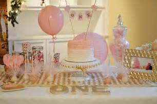 pink and gold first birthday the samantha show