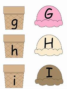 Alphabet uppercase lowercase matching a to z ice cream for Matching upper and lowercase letters game