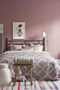 couleur peinture chambre a coucher 30 idees inspirantes With couleur de peinture tendance 1 peinture et sols interieur chambres orange