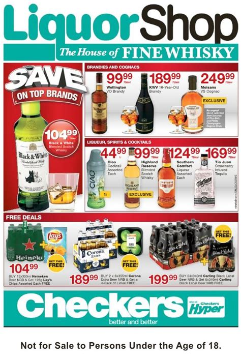 gauteng checkers liquor specials  apr