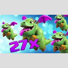 27 X New Level 5 Baby Dragon Attacks Ft Bomb Tower  New Update  Clash Of Clans Youtube