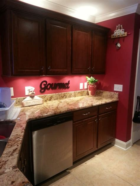 wine colored kitchen walls i the chef look especially with my kitchen 1545