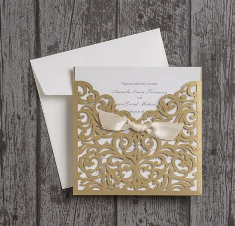 laser cut wedding invitations beautiful laser cut wedding invitations