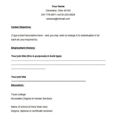 Blank Resume Template by Professional Resume Template Print Pdf Flowersheet