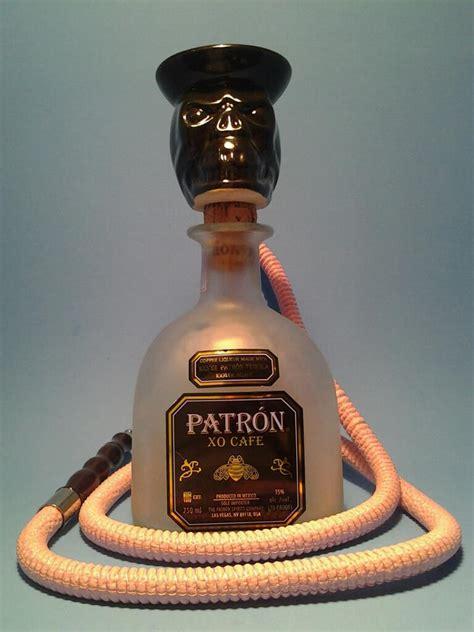 patron xo cafe skull hookah white   hose custom