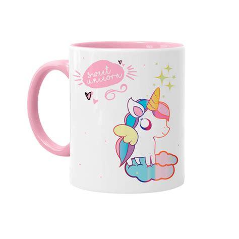 un mug licorne et blanc tout mignon sur kas design