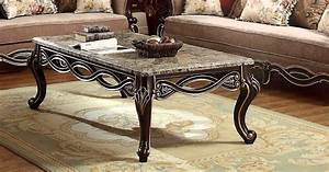 belvedere antique style marble top coffee table in ebony With real marble top coffee table