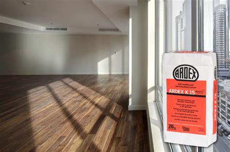 ardex k15 floor leveler ardex floor levelling repair mortars a flat subfloor